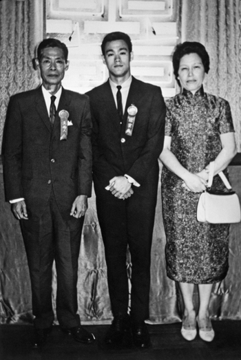 bruce with his mother and father